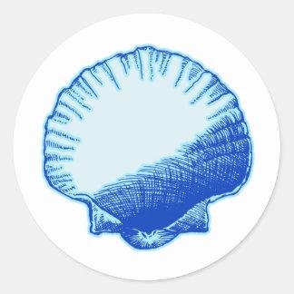 Snäcka för Bimini blåtthav Runt Klistermärke
