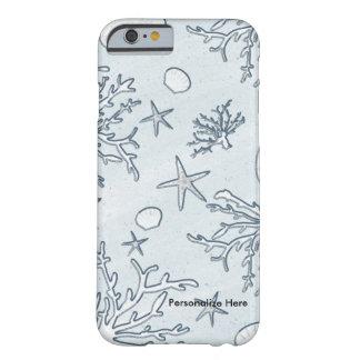 Snäcka för hav för strandkorallrev & mobilt fodral barely there iPhone 6 skal