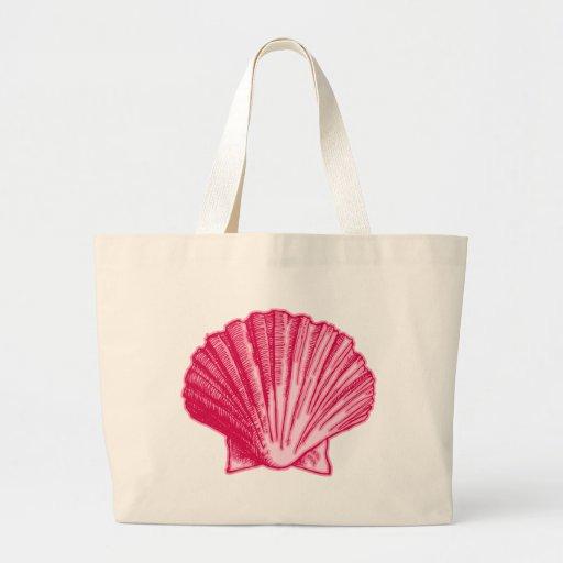 Snäcka för hav för tropisk hibiskusrodnad rosa tote bag