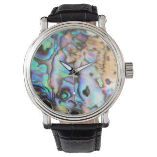 Snäcka för kiwiana för Paua abalone härlig Armbandsur