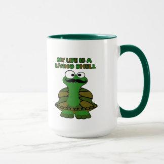 Snäcka för mustaschsköldpaddauppehälle mugg