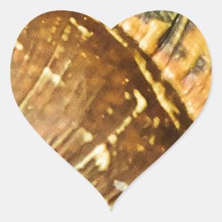 Snäcka Hjärtformat Klistermärke