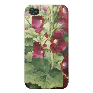 Snäckafodral för 0536 Hollyhocks hårt för iPhonen  iPhone 4 Cover