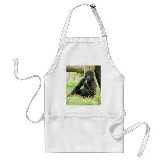 Snacking för babygorilla förkläde