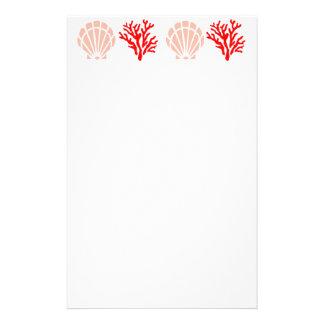 Snäckor och korallbrevpapper brevpapper