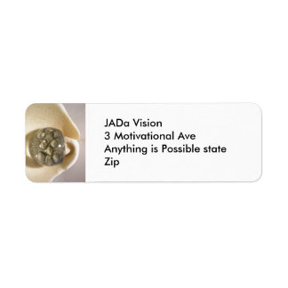 Snäckor och stenar returadress etikett