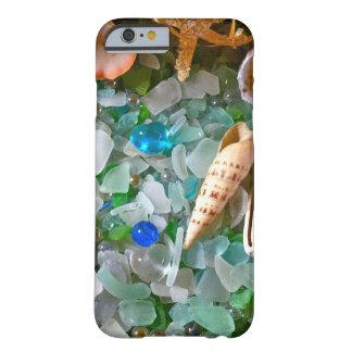 Snäckor och strandexponeringsglas barely there iPhone 6 skal