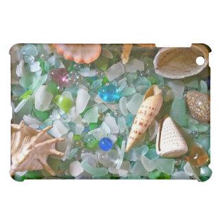 Snäckor och strandexponeringsglas iPad mini fodral