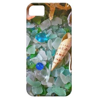 Snäckor och strandexponeringsglas iPhone 5 Case-Mate skydd