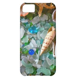 Snäckor och strandexponeringsglas iPhone 5C fodral