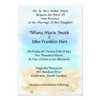 Snäckskal på strandbröllopinbjudningarna 12,7 x 17,8 cm inbjudningskort