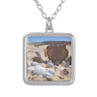 Snäckskal på stranden av Shirley Taylor Silverpläterat Halsband