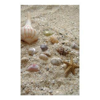 Snäckskal på stranden brevpapper
