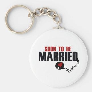 Snart att att gifta sig rund nyckelring