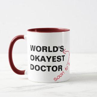 snart tobevärlds medicinsk rolig mugg för mest
