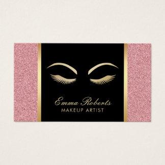 Snärtar & modern rosa guld- salong för visitkort