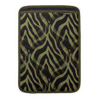 Snazzy oliv grönt zebra rändertryck MacBook air sleeves