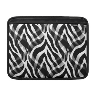 Snazzy svartvitt zebra rändertryck MacBook air sleeve