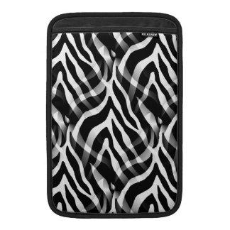 Snazzy svartvitt zebra rändertryck MacBook sleeves
