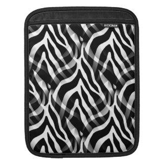 Snazzy zebra rändertryck sleeve för iPads