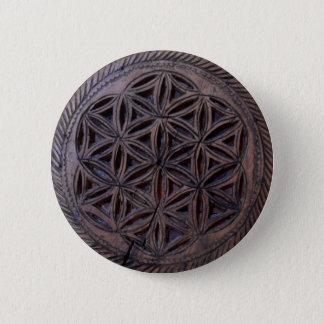 sned det wood etniska motiv för det forntida standard knapp rund 5.7 cm