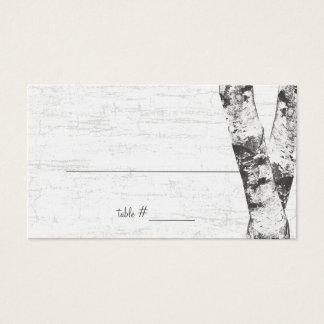 Sned kort för placering för hjärtabjörkträd