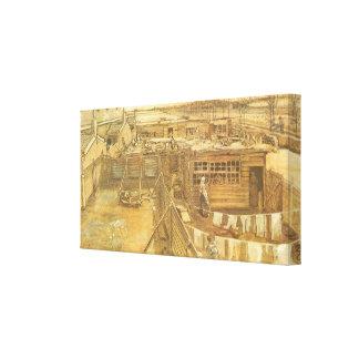 Snickare gård och tvätt av Vincent Van Gogh Canvastryck