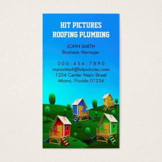 Snickaren för byggmästareleverantörkonstruktion visitkort