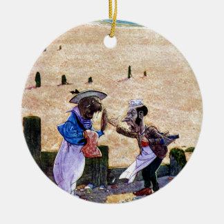 Snickaren och valrossen - Alice i underland Julgransprydnad Keramik