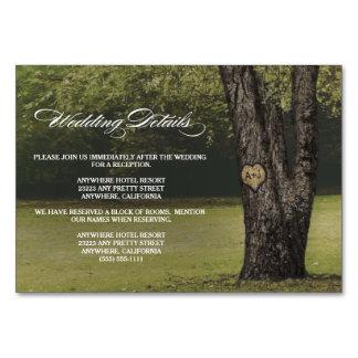 Snidit mottagande för bröllop för Oakträd + Bordsnummer