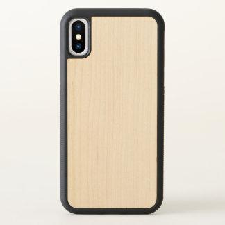 Snidit rikligt Wood fodral för Apple iPhone X