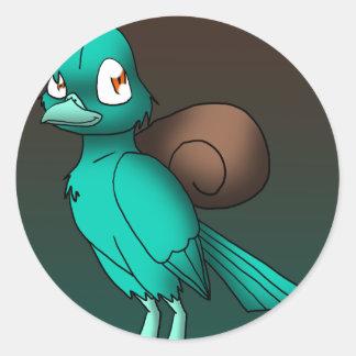 Snigelfågel Runt Klistermärke