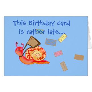 Snigeln postar - det sena födelsedagkortet hälsningskort