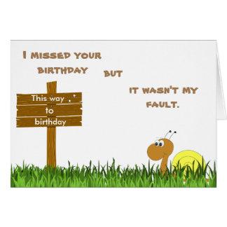 Snigeln postar födelsedagkortet hälsningskort