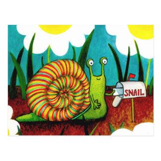 Snigeln postar kortet vykort