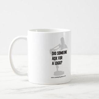 Snillecitationstecken/frågar för en kaffemugg