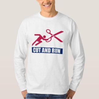 Snitt och springa tee shirt