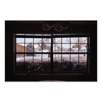 Snö beskådar fototryck