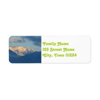 Snö Capped Dolomites Returadress Etikett