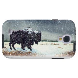 Snö dammad av Bison Galaxy S4 Fodral