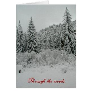 snö djupt hälsningskort