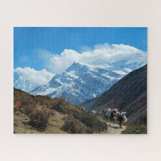 Snö för Himalaya bergindia nepal natur Pussel