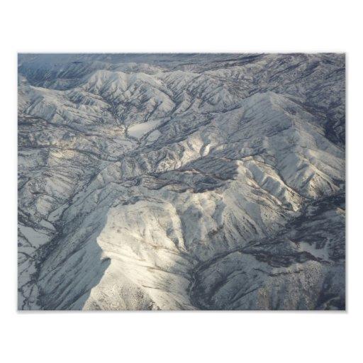 Snö för vinter för rocky mountainsfototryck foton