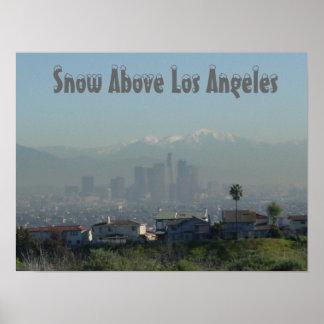 Snö ovanför Los Angeles Poster