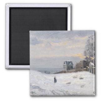 Snö på Montmartre, 1869 Magnet