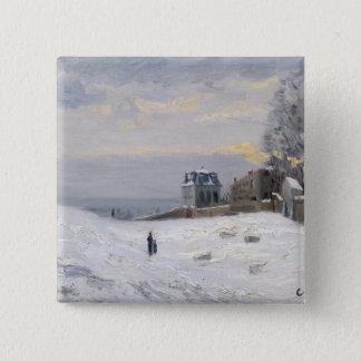 Snö på Montmartre, 1869 Standard Kanpp Fyrkantig 5.1 Cm