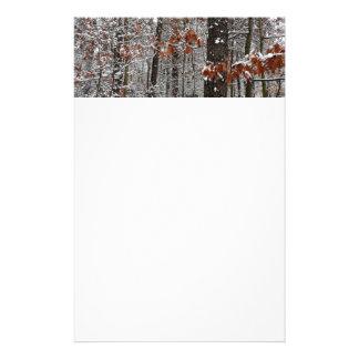 Snö täckt fotografi för natur för vinter för brevpapper