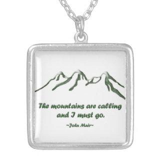 Snö tippade mtns kallar… J Muir Silverpläterat Halsband