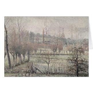 Snö verkställer på Eragny, 1894 Hälsningskort
