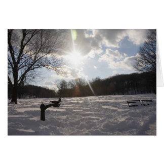 Snöaftonfontän Hälsningskort
